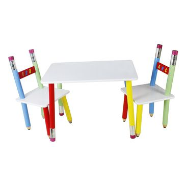 Pencil table and 2 chairs