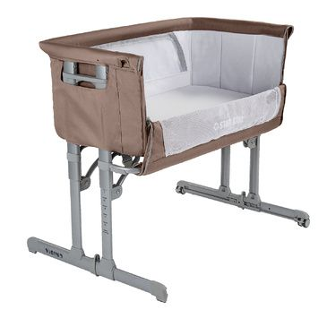 Star Kidz Vicino Deluxe Baby Bedside Bassinet - Caribou Brown