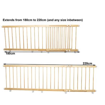 Wooden Door Barrier 180cm to 220cm