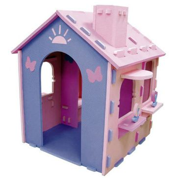 Kids DIY Cubbyhouse Pink EVA Foam Childrens Girls Cubby Play House