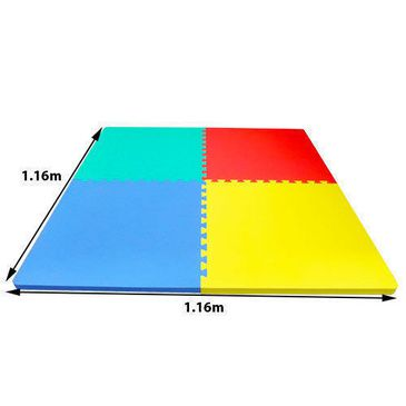 Kids Playpen Soft Safety Interlock EVA Foam Crawling Mat Play Puzzle Floor Rug 1.16mx1.16m