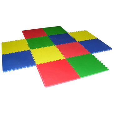 EVA Foam Playpen Floor Safety Puzzle Mat Extension Rug Play Pen 12 Pcs