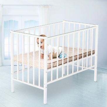 Little BOSS Cot - White & SleepEezi Mattress