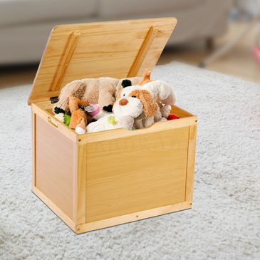 TikkTokk BOSS Toy Box | Kids Wooden Toy Box