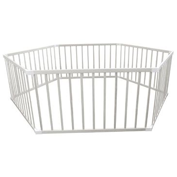 Jumbo Hexagonal Kids Playpen - WHITE