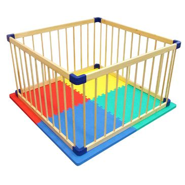 Kids Playpen and EVA Safety Mat Combo | Baby Play Pen with Safety Mat