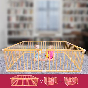 TikkTokk BOSS Playpen - Giant Wooden Square Playpen | Baby Toddler Play Pen
