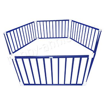 Kids 3-in-1 Wooden Playpen (Blue)