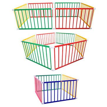 Tikk Tokk BOSS Convertible Timber Coloured 3-in-1 Play pen (Rectangle, Hexagon, Square)