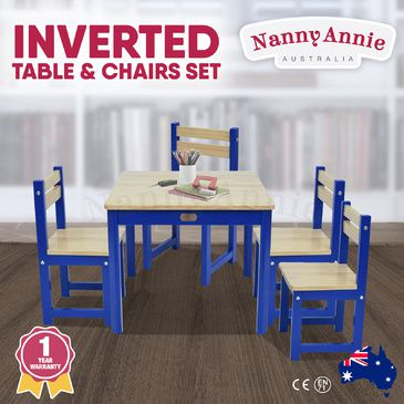 ENVY Table & 4 Chairs Set - INVERTED BLUE