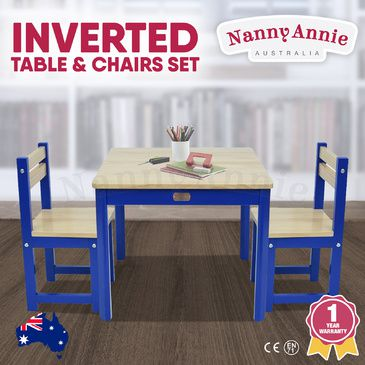 ENVY Table & 2 Chairs Set - INVERTED BLUE