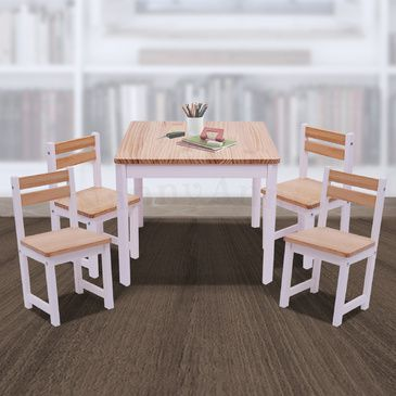 ENVY Table & 4 Chairs Set - INVERTED WHITE