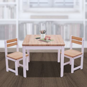 ENVY Table & 2 Chairs Set - INVERTED WHITE