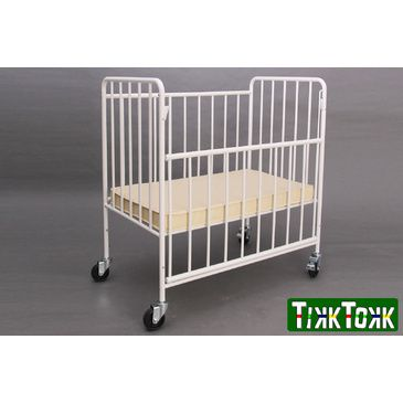 Baby Cot | Space Saving Metal Evacuation Cot with Drop down Side