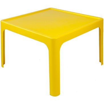 Childrens Resin Table Kids Plastic Table YELLOW