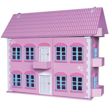 Regency Wooden Pink Dolls House Childrens Furnished Dollhouse 3 Storey