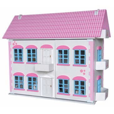 Whitehall Wood White Dolls House Childrens Furnished Dollhouse 3 Storey Townhouse