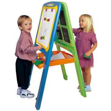 Easel - Lil Artist Easel for 2 - Craft Painting & Magnetic Whiteboard Easel