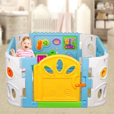 Baby Playpen - Interactive Baby Room Play Den WITH GATE