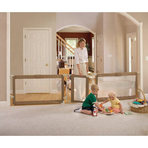 Custom Fit Gate and Safety Barrier - Child Safety Room Divider up to 3.6m - Custom Fit Gate And Safety Barrier - Child Safety Room Divider Up