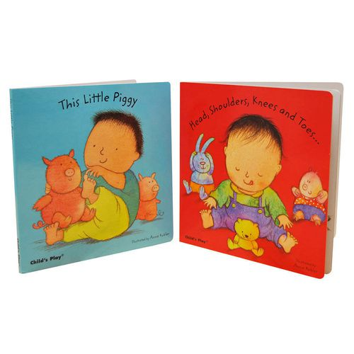 Baby Board Books - Song and Rhymes set of 2 (Head and Shoulders & Little Piggy)
