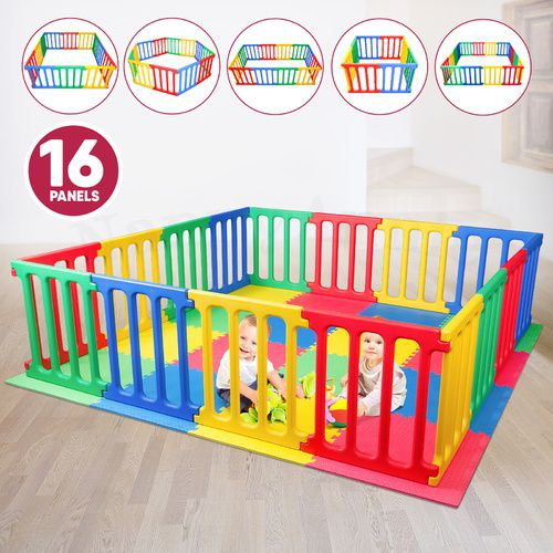 Happy Panel Plastic Playpen And EVA Mat | 5 Playpens in 1 Super Playpen