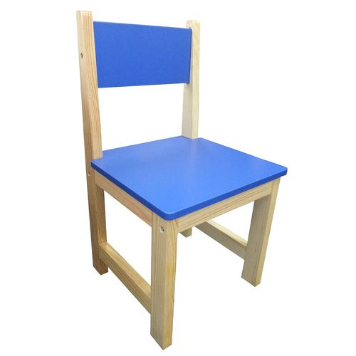 Childrens Wooden Chair - Blue (Set of 2)