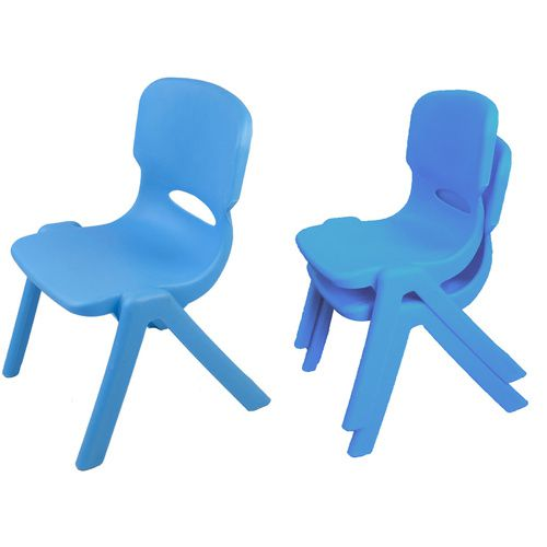 Resin Childrens Chair (Set of 2) (Blue)