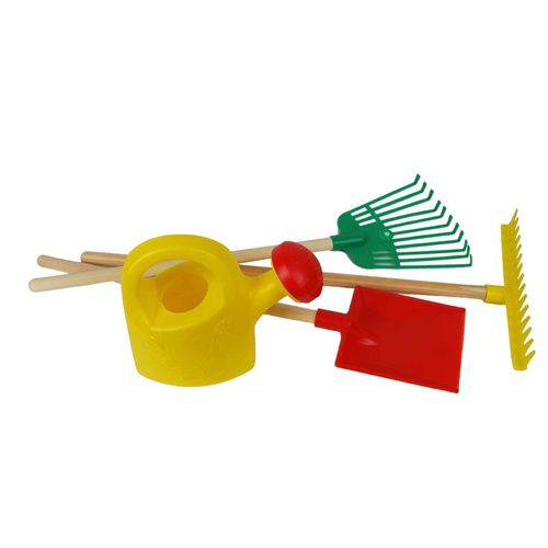 Kids Yellow Watering Can With Gardening Tools | Kids Play Gardening Tools