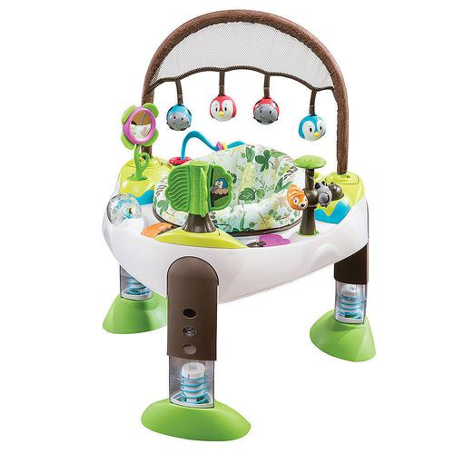 Evenflo Treehouse Triple Fun Exersaucer Bouncer Baby Infant Activity Toy Child Mat