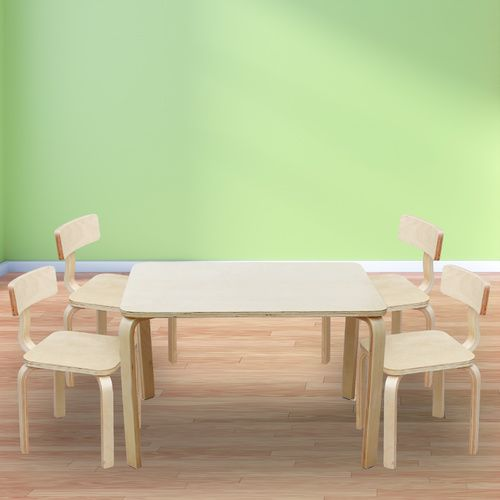 Nu Bondi Table & 4 Chairs Set -  Natural