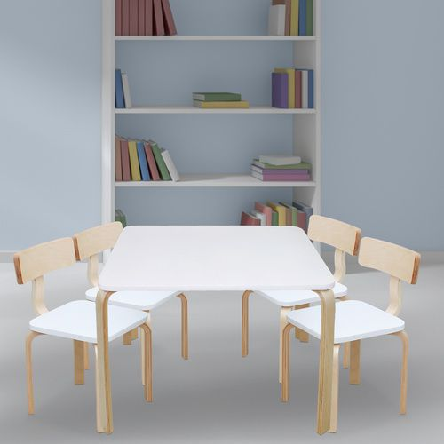 Nu Bondi Table & 4 Chairs Set - White