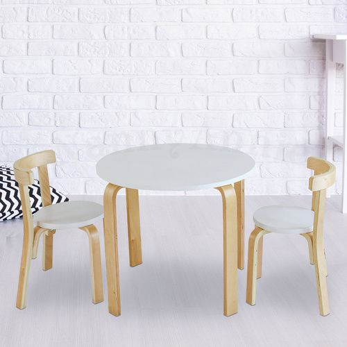 Nu Hyams Table & 2 Chairs Set -  White