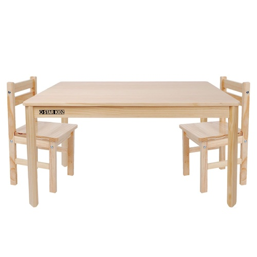 Nu Elwood Rectangle Table & 2 Chairs Set - Natural