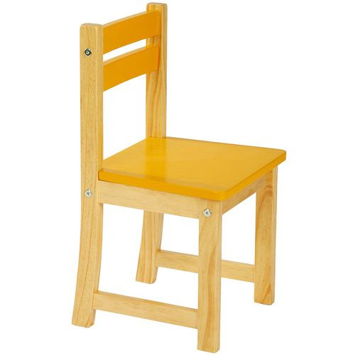 Yellow Kids Wooden Chair | CLEARANCE STOCK