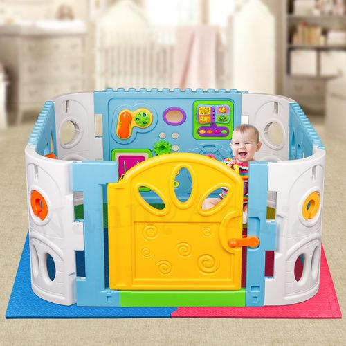 Interactive Playpen and EVA Mat | Playpen with safety Mat