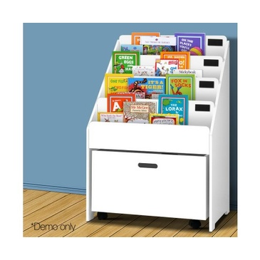 Nu Oxford Kids Bookshelf with Drawer - White
