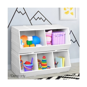 Nu Oxford Kids Toy Storage Box - White