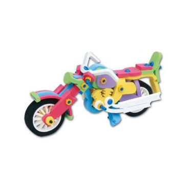 EVA Big Bike Playset | Kids 3D DIY Foam Kit | Kids Build a Vehicle Set