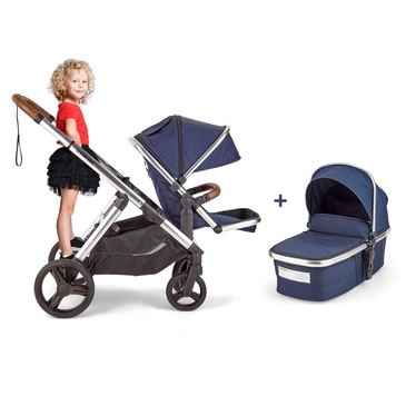 2020 Star Kidz Adaptii Pram with Bassinet- Navy