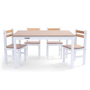 2020 Star Kidz Elwood Rectangle Table & 4 Chairs Set - Inverted White