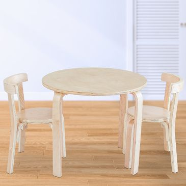 Nu Hyams Table & 2 Chairs Set -  Natural