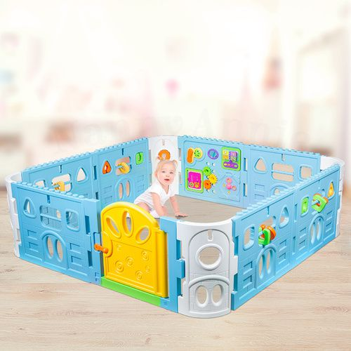 Baby Playpen with Gate and Activities 1.6m Square